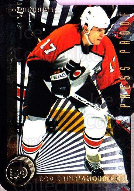 1997-98 Donruss Press Proofs Gold #157 Rod Brind'Amour<br/>1 In Stock - $5.00 each - <a href=https://centericecollectibles.foxycart.com/cart?name=1997-98%20Donruss%20Press%20Proofs%20Gold%20%23157%20Rod%20Brind'Amour...&quantity_max=1&price=$5.00&code=348972 class=foxycart> Buy it now! </a>