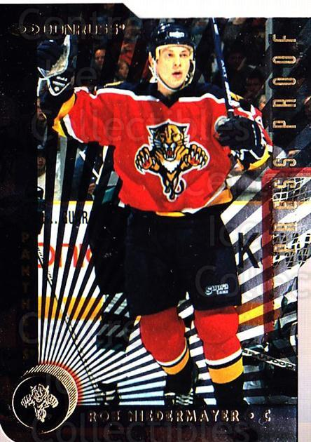 1997-98 Donruss Press Proofs Gold #191 Rob Niedermayer<br/>2 In Stock - $5.00 each - <a href=https://centericecollectibles.foxycart.com/cart?name=1997-98%20Donruss%20Press%20Proofs%20Gold%20%23191%20Rob%20Niedermayer...&quantity_max=2&price=$5.00&code=349007 class=foxycart> Buy it now! </a>