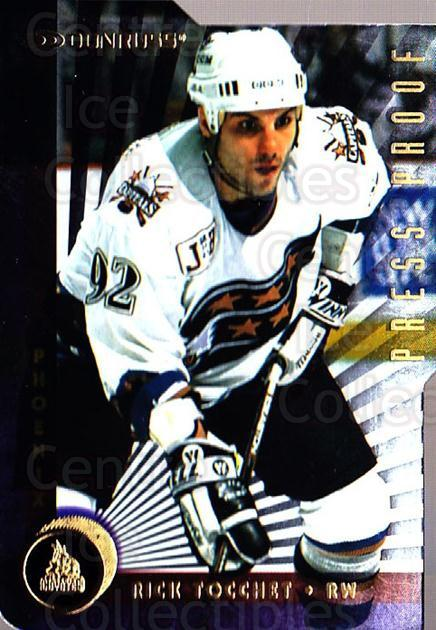 1997-98 Donruss Press Proofs Gold #45 Rick Tocchet<br/>1 In Stock - $5.00 each - <a href=https://centericecollectibles.foxycart.com/cart?name=1997-98%20Donruss%20Press%20Proofs%20Gold%20%2345%20Rick%20Tocchet...&quantity_max=1&price=$5.00&code=349074 class=foxycart> Buy it now! </a>