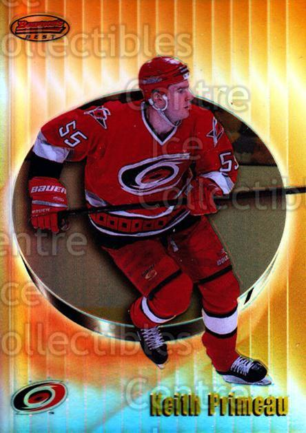 1998-99 Bowmans Best Refractors #64 Keith Primeau<br/>1 In Stock - $3.00 each - <a href=https://centericecollectibles.foxycart.com/cart?name=1998-99%20Bowmans%20Best%20Refractors%20%2364%20Keith%20Primeau...&quantity_max=1&price=$3.00&code=349381 class=foxycart> Buy it now! </a>