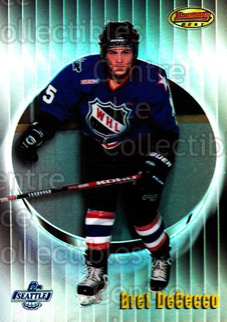 1998-99 Bowmans Best Refractors #149 Bret DeCecco<br/>1 In Stock - $3.00 each - <a href=https://centericecollectibles.foxycart.com/cart?name=1998-99%20Bowmans%20Best%20Refractors%20%23149%20Bret%20DeCecco...&price=$3.00&code=349476 class=foxycart> Buy it now! </a>