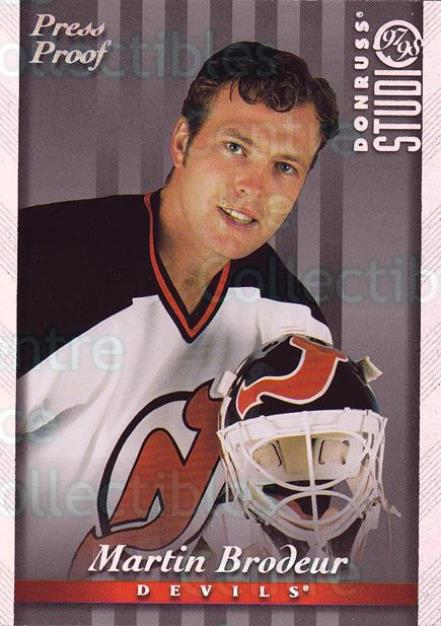 1997-98 Studio Press Proofs Silver #20 Martin Brodeur<br/>1 In Stock - $10.00 each - <a href=https://centericecollectibles.foxycart.com/cart?name=1997-98%20Studio%20Press%20Proofs%20Silver%20%2320%20Martin%20Brodeur...&quantity_max=1&price=$10.00&code=349683 class=foxycart> Buy it now! </a>