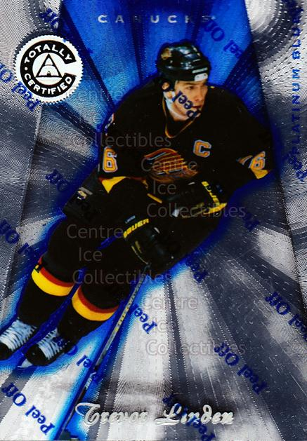 1997-98 Pinnacle Totally Certified Platinum Blue #104 Trevor Linden<br/>3 In Stock - $3.00 each - <a href=https://centericecollectibles.foxycart.com/cart?name=1997-98%20Pinnacle%20Totally%20Certified%20Platinum%20Blue%20%23104%20Trevor%20Linden...&quantity_max=3&price=$3.00&code=349885 class=foxycart> Buy it now! </a>