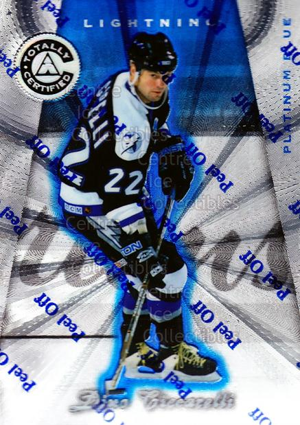 1997-98 Pinnacle Totally Certified Platinum Blue #105 Dino Ciccarelli<br/>3 In Stock - $3.00 each - <a href=https://centericecollectibles.foxycart.com/cart?name=1997-98%20Pinnacle%20Totally%20Certified%20Platinum%20Blue%20%23105%20Dino%20Ciccarelli...&quantity_max=3&price=$3.00&code=349886 class=foxycart> Buy it now! </a>