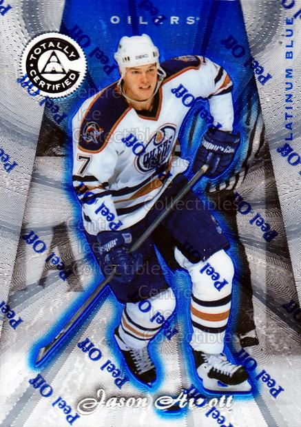 1997-98 Pinnacle Totally Certified Platinum Blue #124 Jason Arnott<br/>2 In Stock - $3.00 each - <a href=https://centericecollectibles.foxycart.com/cart?name=1997-98%20Pinnacle%20Totally%20Certified%20Platinum%20Blue%20%23124%20Jason%20Arnott...&quantity_max=2&price=$3.00&code=349905 class=foxycart> Buy it now! </a>