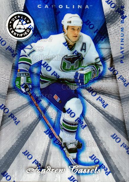 1997-98 Pinnacle Totally Certified Platinum Blue #130 Andrew Cassels<br/>5 In Stock - $3.00 each - <a href=https://centericecollectibles.foxycart.com/cart?name=1997-98%20Pinnacle%20Totally%20Certified%20Platinum%20Blue%20%23130%20Andrew%20Cassels...&quantity_max=5&price=$3.00&code=349911 class=foxycart> Buy it now! </a>