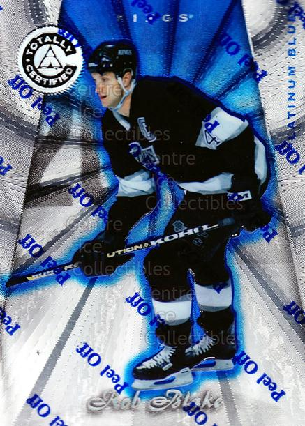 1997-98 Pinnacle Totally Certified Platinum Blue #77 Rob Blake<br/>5 In Stock - $3.00 each - <a href=https://centericecollectibles.foxycart.com/cart?name=1997-98%20Pinnacle%20Totally%20Certified%20Platinum%20Blue%20%2377%20Rob%20Blake...&quantity_max=5&price=$3.00&code=349949 class=foxycart> Buy it now! </a>