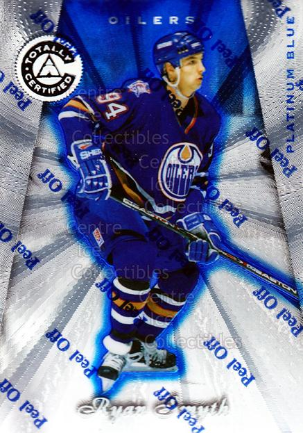 1997-98 Pinnacle Totally Certified Platinum Blue #79 Ryan Smyth<br/>5 In Stock - $3.00 each - <a href=https://centericecollectibles.foxycart.com/cart?name=1997-98%20Pinnacle%20Totally%20Certified%20Platinum%20Blue%20%2379%20Ryan%20Smyth...&quantity_max=5&price=$3.00&code=349951 class=foxycart> Buy it now! </a>