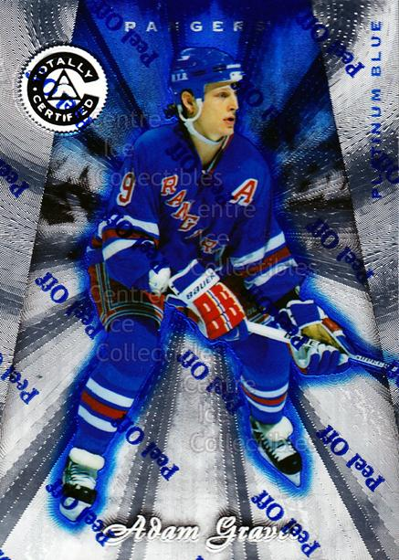 1997-98 Pinnacle Totally Certified Platinum Blue #96 Adam Graves<br/>4 In Stock - $3.00 each - <a href=https://centericecollectibles.foxycart.com/cart?name=1997-98%20Pinnacle%20Totally%20Certified%20Platinum%20Blue%20%2396%20Adam%20Graves...&quantity_max=4&price=$3.00&code=349968 class=foxycart> Buy it now! </a>