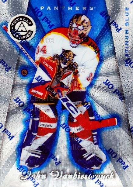 1997-98 Pinnacle Totally Certified Platinum Blue #6 John Vanbiesbrouck<br/>1 In Stock - $5.00 each - <a href=https://centericecollectibles.foxycart.com/cart?name=1997-98%20Pinnacle%20Totally%20Certified%20Platinum%20Blue%20%236%20John%20Vanbiesbro...&quantity_max=1&price=$5.00&code=349977 class=foxycart> Buy it now! </a>