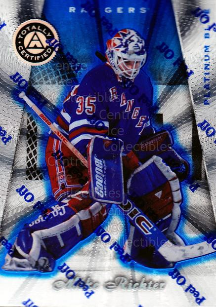 1997-98 Pinnacle Totally Certified Platinum Blue #13 Mike Richter<br/>1 In Stock - $3.00 each - <a href=https://centericecollectibles.foxycart.com/cart?name=1997-98%20Pinnacle%20Totally%20Certified%20Platinum%20Blue%20%2313%20Mike%20Richter...&quantity_max=1&price=$3.00&code=349984 class=foxycart> Buy it now! </a>