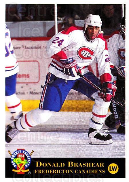 1994 Classic Pro Prospects #146 Donald Brashear<br/>10 In Stock - $1.00 each - <a href=https://centericecollectibles.foxycart.com/cart?name=1994%20Classic%20Pro%20Prospects%20%23146%20Donald%20Brashear...&quantity_max=10&price=$1.00&code=3515 class=foxycart> Buy it now! </a>
