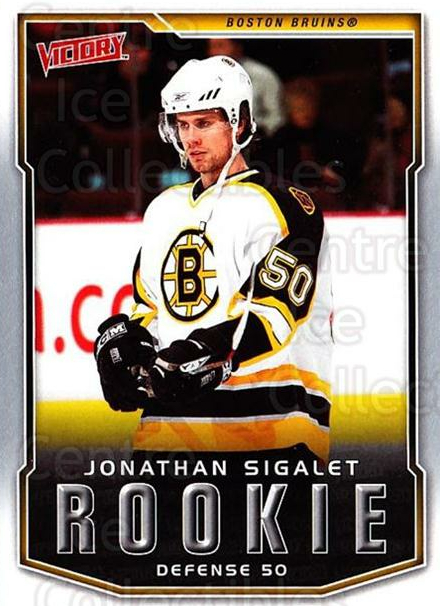 2007-08 UD Victory #225 Jonathan Sigalet<br/>2 In Stock - $2.00 each - <a href=https://centericecollectibles.foxycart.com/cart?name=2007-08%20UD%20Victory%20%23225%20Jonathan%20Sigale...&price=$2.00&code=352188 class=foxycart> Buy it now! </a>