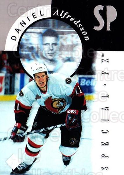 1995-96 SP Holoviews Special FX Die Cut #15 Daniel Alfredsson<br/>2 In Stock - $10.00 each - <a href=https://centericecollectibles.foxycart.com/cart?name=1995-96%20SP%20Holoviews%20Special%20FX%20Die%20Cut%20%2315%20Daniel%20Alfredss...&quantity_max=2&price=$10.00&code=352240 class=foxycart> Buy it now! </a>