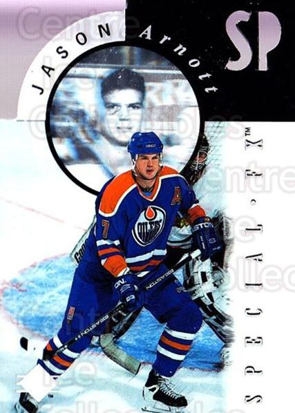 1995-96 SP Holoviews Special FX Die Cut #8 Jason Arnott<br/>2 In Stock - $10.00 each - <a href=https://centericecollectibles.foxycart.com/cart?name=1995-96%20SP%20Holoviews%20Special%20FX%20Die%20Cut%20%238%20Jason%20Arnott...&quantity_max=2&price=$10.00&code=352246 class=foxycart> Buy it now! </a>