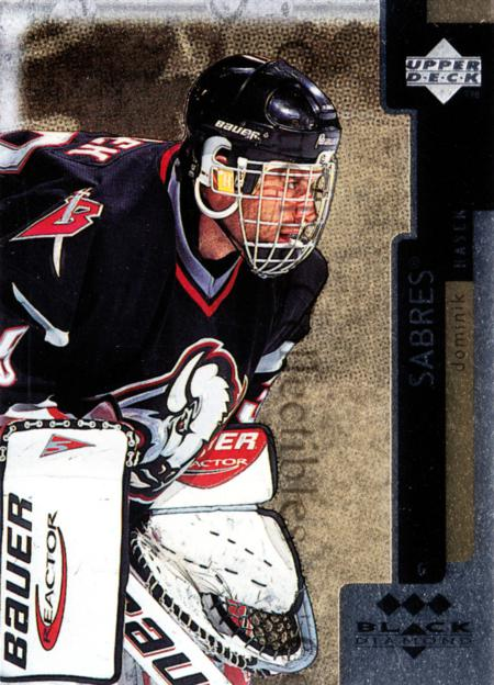 1997-98 Black Diamond Triple Diamond #20 Dominik Hasek<br/>1 In Stock - $5.00 each - <a href=https://centericecollectibles.foxycart.com/cart?name=1997-98%20Black%20Diamond%20Triple%20Diamond%20%2320%20Dominik%20Hasek...&quantity_max=1&price=$5.00&code=352563 class=foxycart> Buy it now! </a>