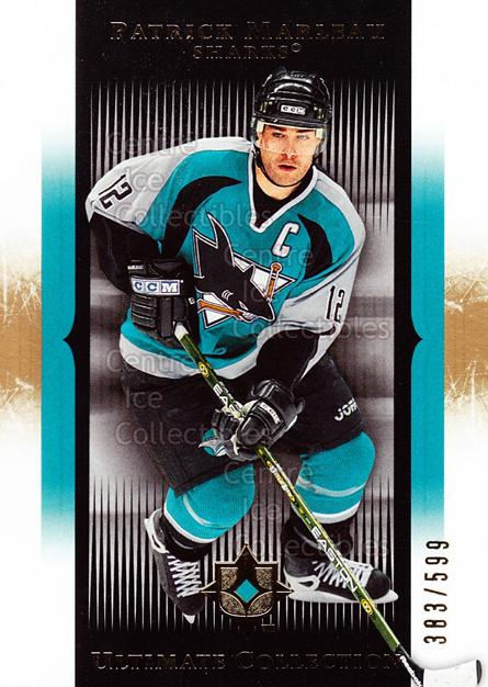 2005-06 UD Ultimate Collection #77 Patrick Marleau<br/>1 In Stock - $5.00 each - <a href=https://centericecollectibles.foxycart.com/cart?name=2005-06%20UD%20Ultimate%20Collection%20%2377%20Patrick%20Marleau...&quantity_max=1&price=$5.00&code=353489 class=foxycart> Buy it now! </a>