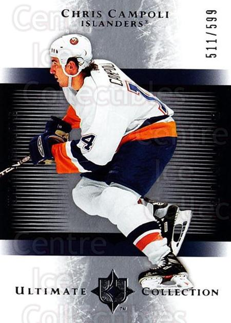2005-06 UD Ultimate Collection #154 Chris Campoli<br/>1 In Stock - $5.00 each - <a href=https://centericecollectibles.foxycart.com/cart?name=2005-06%20UD%20Ultimate%20Collection%20%23154%20Chris%20Campoli...&quantity_max=1&price=$5.00&code=353566 class=foxycart> Buy it now! </a>
