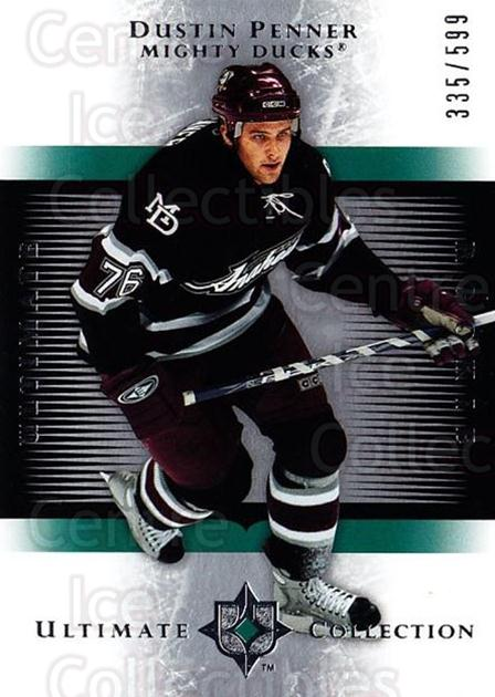 2005-06 UD Ultimate Collection #193 Dustin Penner<br/>1 In Stock - $5.00 each - <a href=https://centericecollectibles.foxycart.com/cart?name=2005-06%20UD%20Ultimate%20Collection%20%23193%20Dustin%20Penner...&quantity_max=1&price=$5.00&code=353605 class=foxycart> Buy it now! </a>