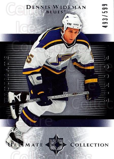 2005-06 UD Ultimate Collection #225 Dennis Wideman<br/>3 In Stock - $5.00 each - <a href=https://centericecollectibles.foxycart.com/cart?name=2005-06%20UD%20Ultimate%20Collection%20%23225%20Dennis%20Wideman...&quantity_max=3&price=$5.00&code=353637 class=foxycart> Buy it now! </a>