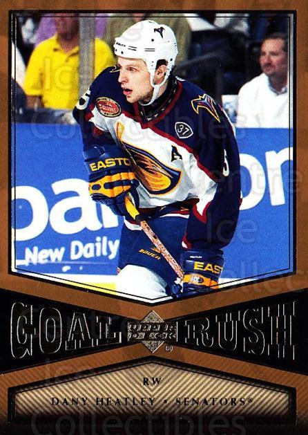 2005-06 Upper Deck Goal Rush #14 Dany Heatley<br/>1 In Stock - $3.00 each - <a href=https://centericecollectibles.foxycart.com/cart?name=2005-06%20Upper%20Deck%20Goal%20Rush%20%2314%20Dany%20Heatley...&quantity_max=1&price=$3.00&code=353669 class=foxycart> Buy it now! </a>