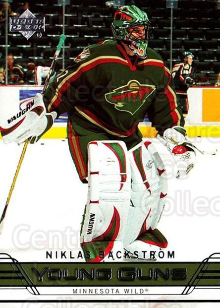 2006-07 Upper Deck #220 Niklas Backstrom<br/>3 In Stock - $10.00 each - <a href=https://centericecollectibles.foxycart.com/cart?name=2006-07%20Upper%20Deck%20%23220%20Niklas%20Backstro...&quantity_max=3&price=$10.00&code=354197 class=foxycart> Buy it now! </a>