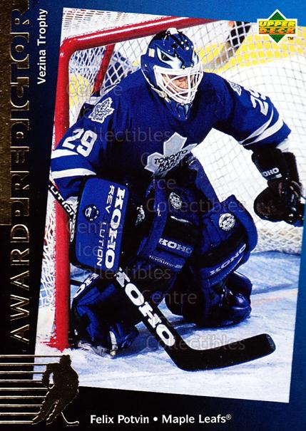 1994-95 Upper Deck Predictor Hobby Exchange Gold #28 Felix Potvin<br/>12 In Stock - $3.00 each - <a href=https://centericecollectibles.foxycart.com/cart?name=1994-95%20Upper%20Deck%20Predictor%20Hobby%20Exchange%20Gold%20%2328%20Felix%20Potvin...&quantity_max=12&price=$3.00&code=35528 class=foxycart> Buy it now! </a>