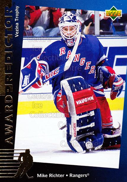 1994-95 Upper Deck Predictor Hobby Exchange Gold #30 Mike Richter<br/>20 In Stock - $2.00 each - <a href=https://centericecollectibles.foxycart.com/cart?name=1994-95%20Upper%20Deck%20Predictor%20Hobby%20Exchange%20Gold%20%2330%20Mike%20Richter...&quantity_max=20&price=$2.00&code=35529 class=foxycart> Buy it now! </a>