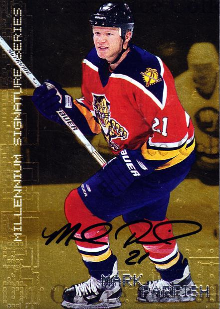 1999-00 BAP Millennium Auto Gold #113 Mark Parrish<br/>1 In Stock - $5.00 each - <a href=https://centericecollectibles.foxycart.com/cart?name=1999-00%20BAP%20Millennium%20Auto%20Gold%20%23113%20Mark%20Parrish...&quantity_max=1&price=$5.00&code=355415 class=foxycart> Buy it now! </a>