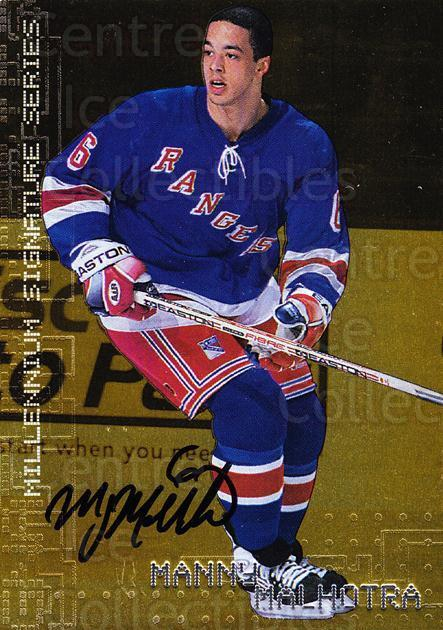 1999-00 BAP Millennium Auto Gold #163 Manny Malhotra<br/>1 In Stock - $5.00 each - <a href=https://centericecollectibles.foxycart.com/cart?name=1999-00%20BAP%20Millennium%20Auto%20Gold%20%23163%20Manny%20Malhotra...&quantity_max=1&price=$5.00&code=355461 class=foxycart> Buy it now! </a>