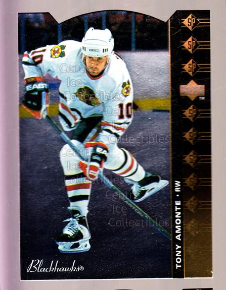 1994-95 Upper Deck SP Inserts Die Cuts #105 Tony Amonte<br/>15 In Stock - $2.00 each - <a href=https://centericecollectibles.foxycart.com/cart?name=1994-95%20Upper%20Deck%20SP%20Inserts%20Die%20Cuts%20%23105%20Tony%20Amonte...&quantity_max=15&price=$2.00&code=35566 class=foxycart> Buy it now! </a>