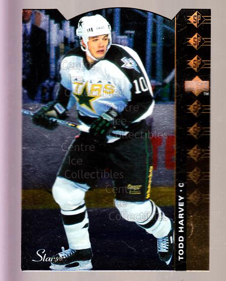 1994-95 Upper Deck SP Inserts Die Cuts #109 Todd Harvey<br/>8 In Stock - $2.00 each - <a href=https://centericecollectibles.foxycart.com/cart?name=1994-95%20Upper%20Deck%20SP%20Inserts%20Die%20Cuts%20%23109%20Todd%20Harvey...&quantity_max=8&price=$2.00&code=35570 class=foxycart> Buy it now! </a>