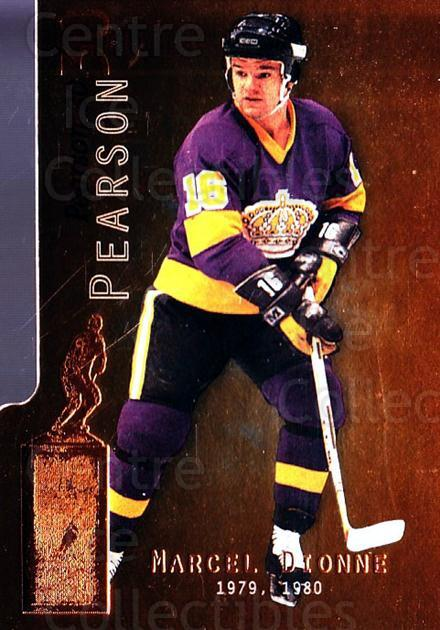 1999-00 BAP Millennium Pearson #11 Marcel Dionne<br/>1 In Stock - $10.00 each - <a href=https://centericecollectibles.foxycart.com/cart?name=1999-00%20BAP%20Millennium%20Pearson%20%2311%20Marcel%20Dionne...&quantity_max=1&price=$10.00&code=355803 class=foxycart> Buy it now! </a>