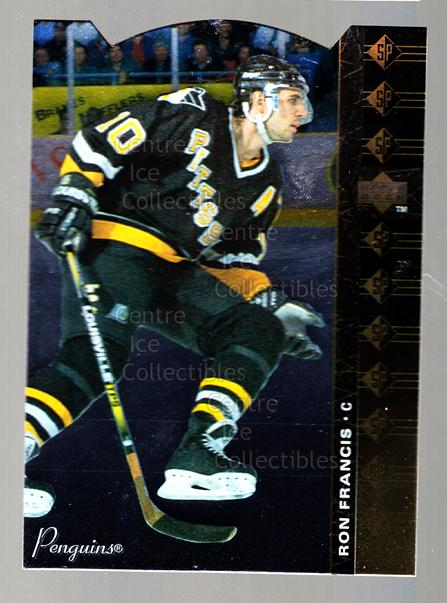 1994-95 Upper Deck SP Inserts Die Cuts #150 Ron Francis<br/>8 In Stock - $2.00 each - <a href=https://centericecollectibles.foxycart.com/cart?name=1994-95%20Upper%20Deck%20SP%20Inserts%20Die%20Cuts%20%23150%20Ron%20Francis...&quantity_max=8&price=$2.00&code=35613 class=foxycart> Buy it now! </a>