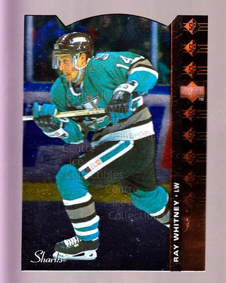 1994-95 Upper Deck SP Inserts Die Cuts #163 Ray Whitney<br/>9 In Stock - $2.00 each - <a href=https://centericecollectibles.foxycart.com/cart?name=1994-95%20Upper%20Deck%20SP%20Inserts%20Die%20Cuts%20%23163%20Ray%20Whitney...&quantity_max=9&price=$2.00&code=35625 class=foxycart> Buy it now! </a>