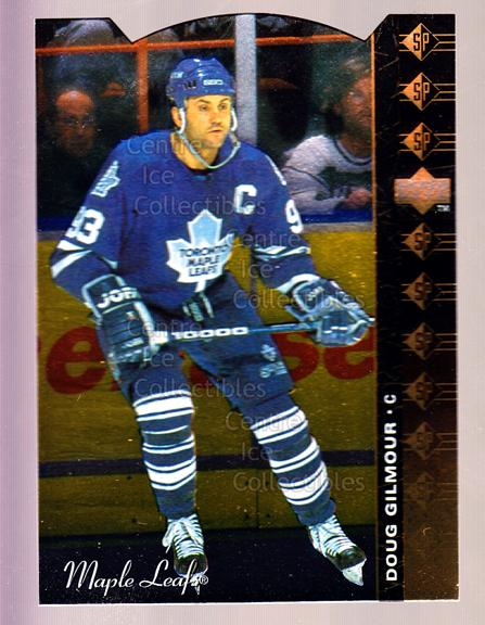 1994-95 Upper Deck SP Inserts Die Cuts #167 Doug Gilmour<br/>5 In Stock - $2.00 each - <a href=https://centericecollectibles.foxycart.com/cart?name=1994-95%20Upper%20Deck%20SP%20Inserts%20Die%20Cuts%20%23167%20Doug%20Gilmour...&quantity_max=5&price=$2.00&code=35629 class=foxycart> Buy it now! </a>