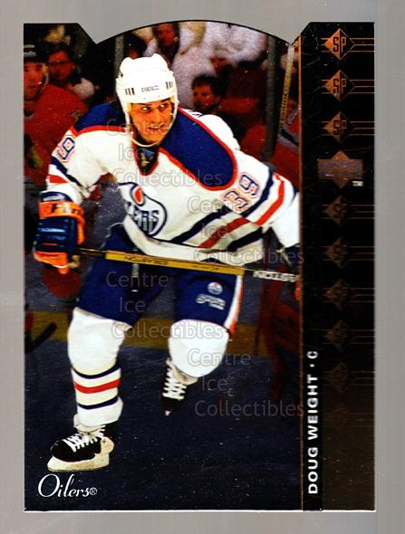 1994-95 Upper Deck SP Inserts Die Cuts #28 Doug Weight<br/>13 In Stock - $2.00 each - <a href=https://centericecollectibles.foxycart.com/cart?name=1994-95%20Upper%20Deck%20SP%20Inserts%20Die%20Cuts%20%2328%20Doug%20Weight...&quantity_max=13&price=$2.00&code=35653 class=foxycart> Buy it now! </a>