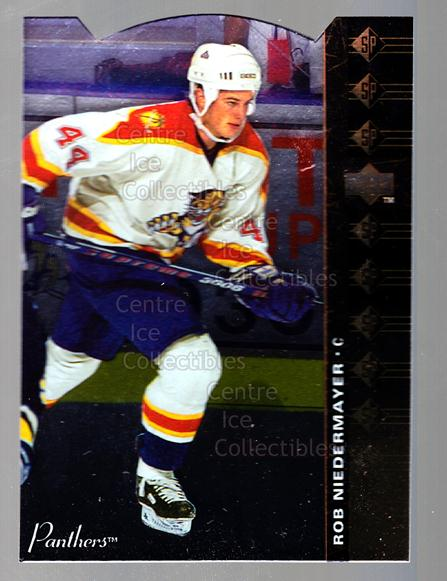 1994-95 Upper Deck SP Inserts Die Cuts #30 Rob Niedermayer<br/>12 In Stock - $2.00 each - <a href=https://centericecollectibles.foxycart.com/cart?name=1994-95%20Upper%20Deck%20SP%20Inserts%20Die%20Cuts%20%2330%20Rob%20Niedermayer...&quantity_max=12&price=$2.00&code=35656 class=foxycart> Buy it now! </a>