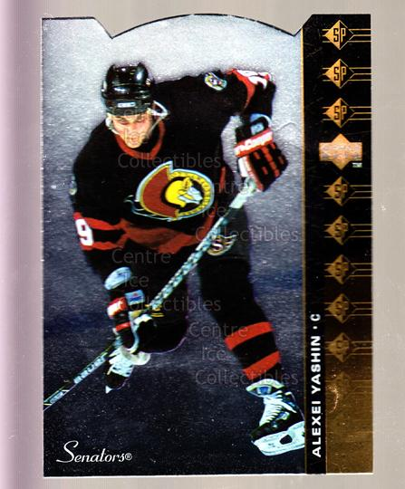 1994-95 Upper Deck SP Inserts Die Cuts #55 Alexei Yashin<br/>8 In Stock - $2.00 each - <a href=https://centericecollectibles.foxycart.com/cart?name=1994-95%20Upper%20Deck%20SP%20Inserts%20Die%20Cuts%20%2355%20Alexei%20Yashin...&quantity_max=8&price=$2.00&code=35680 class=foxycart> Buy it now! </a>