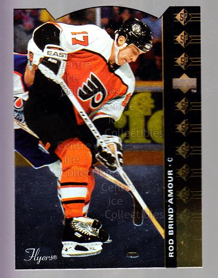 1994-95 Upper Deck SP Inserts Die Cuts #57 Rod Brind'Amour<br/>7 In Stock - $2.00 each - <a href=https://centericecollectibles.foxycart.com/cart?name=1994-95%20Upper%20Deck%20SP%20Inserts%20Die%20Cuts%20%2357%20Rod%20Brind'Amour...&quantity_max=7&price=$2.00&code=35682 class=foxycart> Buy it now! </a>
