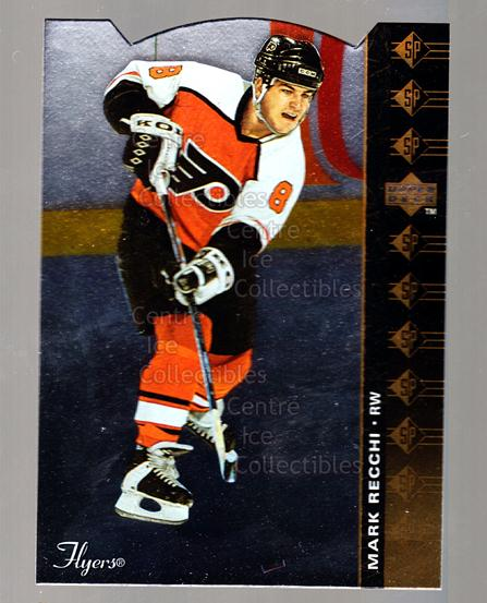 1994-95 Upper Deck SP Inserts Die Cuts #58 Mark Recchi<br/>5 In Stock - $2.00 each - <a href=https://centericecollectibles.foxycart.com/cart?name=1994-95%20Upper%20Deck%20SP%20Inserts%20Die%20Cuts%20%2358%20Mark%20Recchi...&quantity_max=5&price=$2.00&code=35683 class=foxycart> Buy it now! </a>
