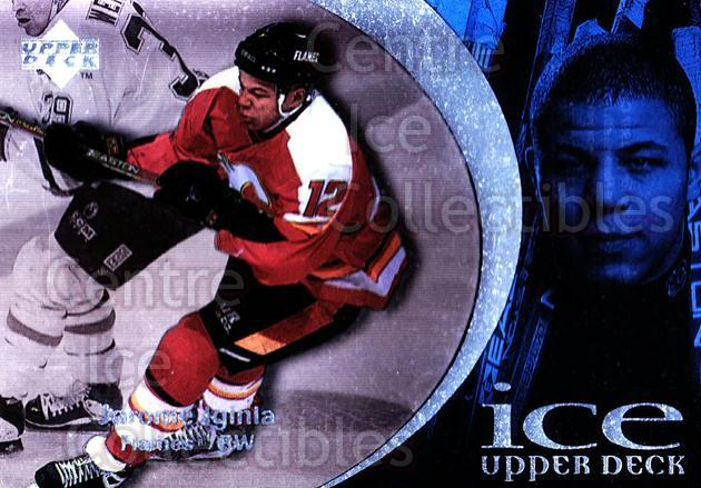 1997-98 UD Ice #20 Jarome Iginla<br/>3 In Stock - $1.00 each - <a href=https://centericecollectibles.foxycart.com/cart?name=1997-98%20UD%20Ice%20%2320%20Jarome%20Iginla...&quantity_max=3&price=$1.00&code=357103 class=foxycart> Buy it now! </a>