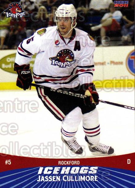2010-11 Rockford Ice Hogs #6 Jassen Cullimore<br/>5 In Stock - $3.00 each - <a href=https://centericecollectibles.foxycart.com/cart?name=2010-11%20Rockford%20Ice%20Hogs%20%236%20Jassen%20Cullimor...&quantity_max=5&price=$3.00&code=357512 class=foxycart> Buy it now! </a>