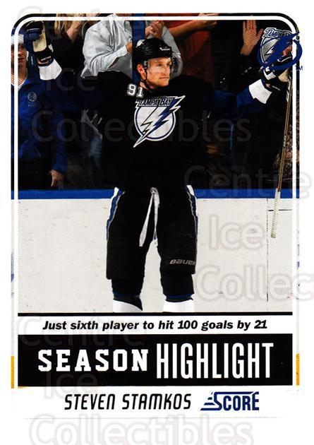 2011-12 Score #8 Steven Stamkos<br/>7 In Stock - $1.00 each - <a href=https://centericecollectibles.foxycart.com/cart?name=2011-12%20Score%20%238%20Steven%20Stamkos...&price=$1.00&code=357538 class=foxycart> Buy it now! </a>