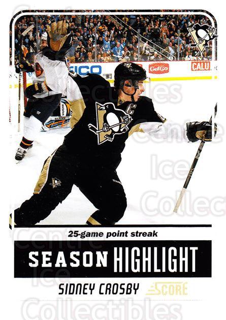 2011-12 Score #9 Sidney Crosby<br/>3 In Stock - $3.00 each - <a href=https://centericecollectibles.foxycart.com/cart?name=2011-12%20Score%20%239%20Sidney%20Crosby...&quantity_max=3&price=$3.00&code=357539 class=foxycart> Buy it now! </a>