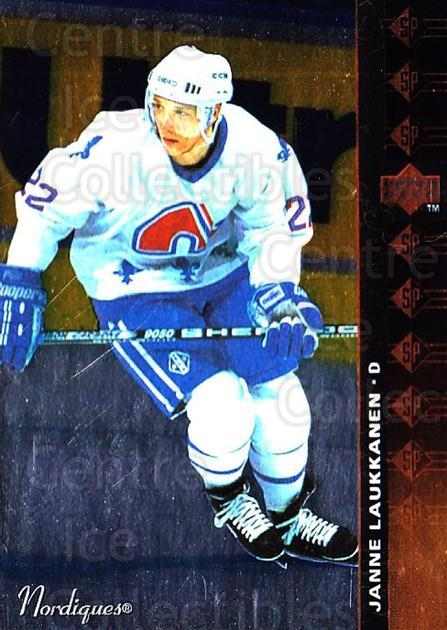 1994-95 Upper Deck SP Inserts #157 Janne Laukkanen<br/>5 In Stock - $1.00 each - <a href=https://centericecollectibles.foxycart.com/cart?name=1994-95%20Upper%20Deck%20SP%20Inserts%20%23157%20Janne%20Laukkanen...&quantity_max=5&price=$1.00&code=35766 class=foxycart> Buy it now! </a>