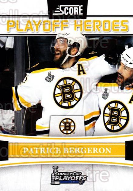 2011-12 Score Playoff Heroes #9 Patrice Bergeron<br/>1 In Stock - $2.00 each - <a href=https://centericecollectibles.foxycart.com/cart?name=2011-12%20Score%20Playoff%20Heroes%20%239%20Patrice%20Bergero...&quantity_max=1&price=$2.00&code=358104 class=foxycart> Buy it now! </a>