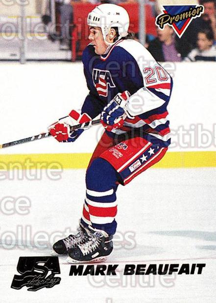 1993-94 Topps Premier Team USA #6 Mark Beaufait<br/>9 In Stock - $2.00 each - <a href=https://centericecollectibles.foxycart.com/cart?name=1993-94%20Topps%20Premier%20Team%20USA%20%236%20Mark%20Beaufait...&quantity_max=9&price=$2.00&code=358237 class=foxycart> Buy it now! </a>