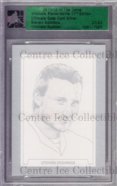 2011-12 ITG Ultimate Memorabilia Base Silver #89 Steven Stamkos<br/>3 In Stock - $10.00 each - <a href=https://centericecollectibles.foxycart.com/cart?name=2011-12%20ITG%20Ultimate%20Memorabilia%20Base%20Silver%20%2389%20Steven%20Stamkos...&price=$10.00&code=358599 class=foxycart> Buy it now! </a>