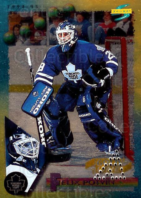 1994-95 Score Gold Punched Winners #160 Felix Potvin<br/>4 In Stock - $3.00 each - <a href=https://centericecollectibles.foxycart.com/cart?name=1994-95%20Score%20Gold%20Punched%20Winners%20%23160%20Felix%20Potvin...&quantity_max=4&price=$3.00&code=359077 class=foxycart> Buy it now! </a>